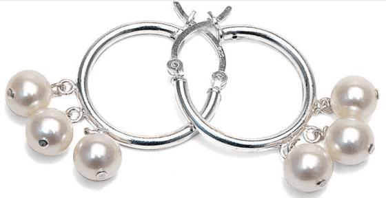 Pure Pearls Pearl Hoop Earrings