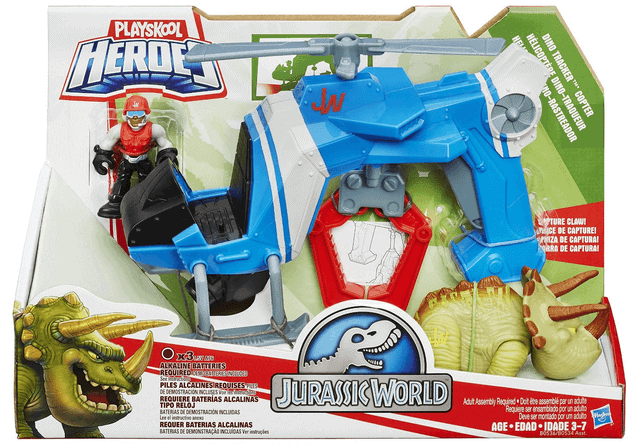 Playskool Heroes Jurassic World Dino Tracker Helicopter Review