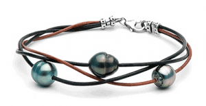 Tahitian Baroque Pearl & Leather Bracelet US/CAN 11/24