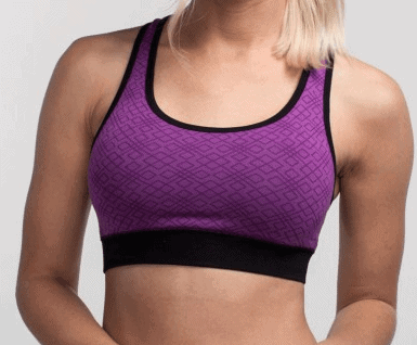 Cariloha sports bra purple