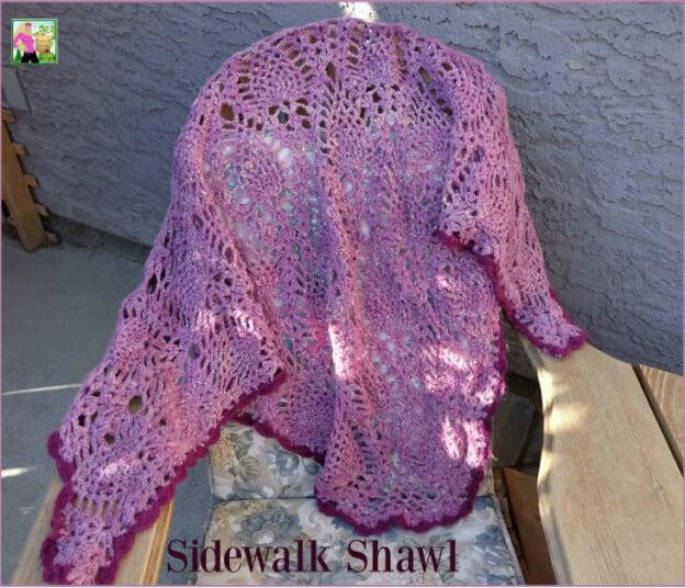 Sidewalk Shawl Croceht Pattern