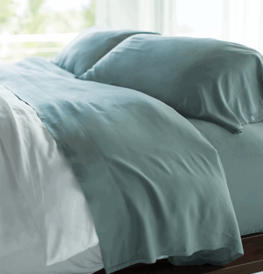 Cariloha bamboo Resort Bed Sheets in teal