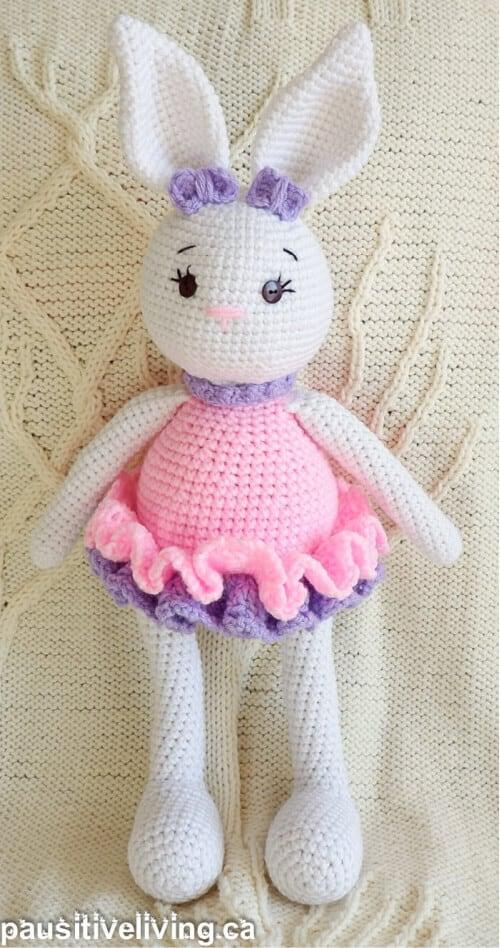 Crocheted bunny doll