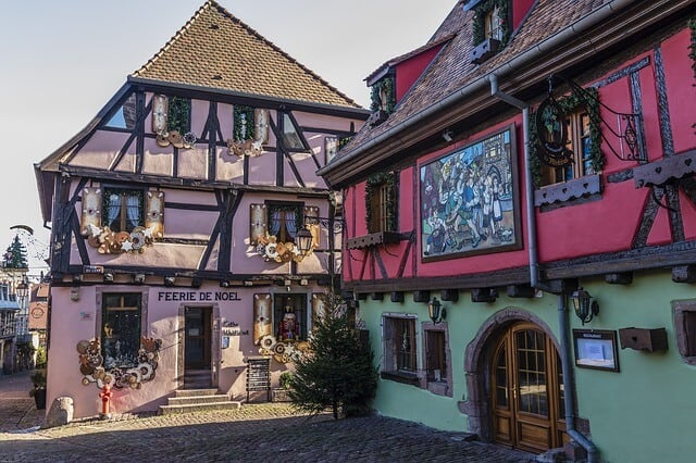 Houses in Riquewihr, France