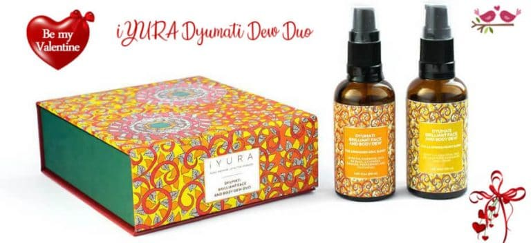 Valentine's Day Ayurveda Dyumati Face and Body Dew Duo