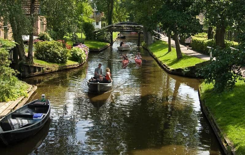 Idyllic Fairy Tale Giethoorn, Holland