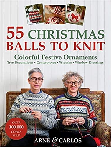 55 Christmas balls to knit pattern book