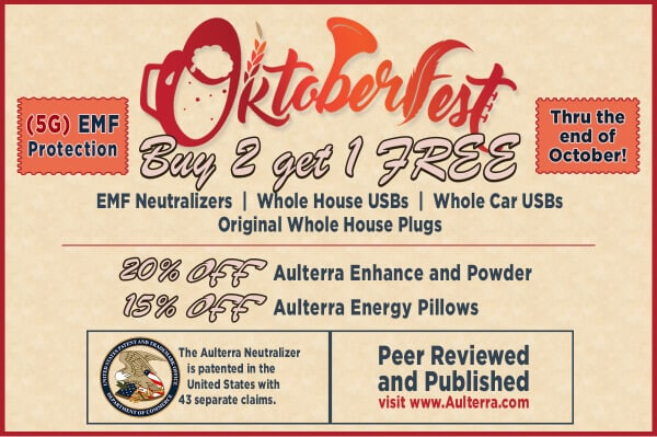 Aulterra, the Ultimate in 5G and EMF Radiation Protection Oktoberfest Sale!