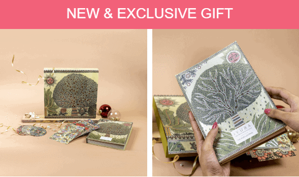 Exclusive gift set journal and envelopes