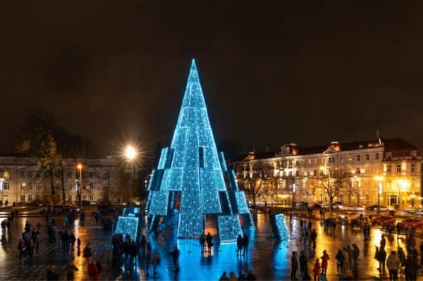 Surrealism Christmas tree in Lithuania