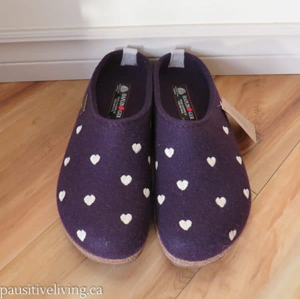 Grizzly Cuoricino clog slippers in purple
