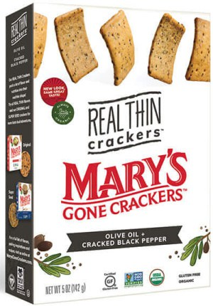 Mary's Real Thin Crackers Olive Oil and Black Pepper