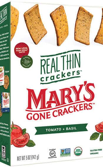 Mary's Real Thin Crackers Tomato Basil