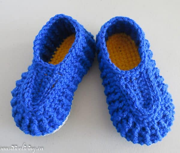 crochet basic slipper