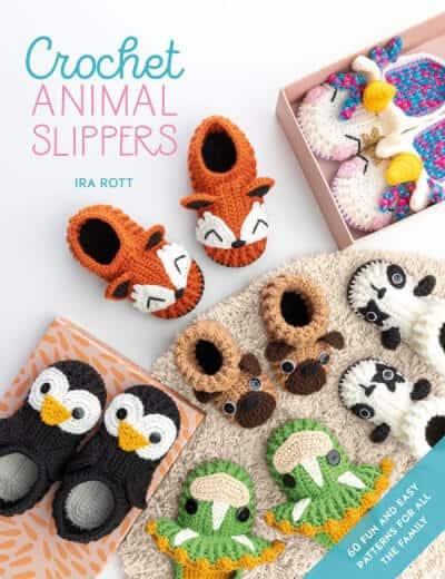 Crochet Animal Slippers Pattern Book