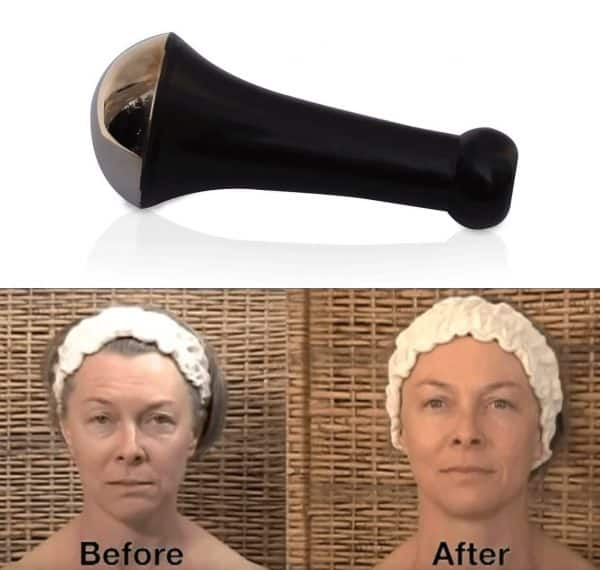 Kansa face wand and before and after picture