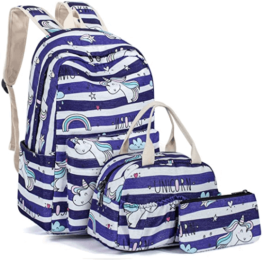 Unicorn Backpack Set