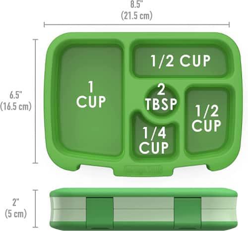 Lunchbox dimensions