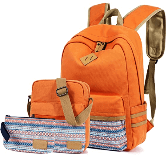 Orange Backpack Set