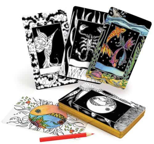 Intuitive Wisdom Color-Your-Deck Tarot