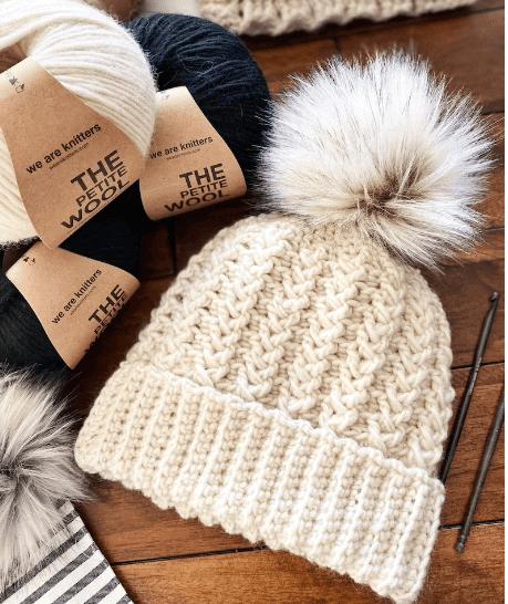 Emery Cluster Stitch Beanie pattern