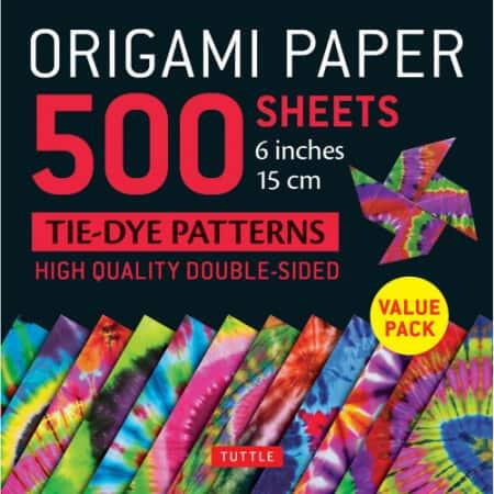 Origami tie-dye paper