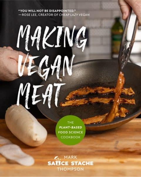 Making vegan meat recipe book