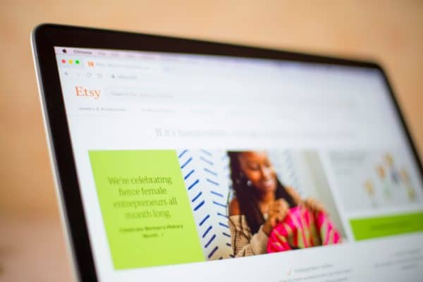 selling on Etsy - Depositphoto